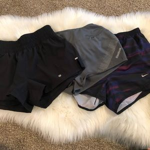Lot of workout shorts